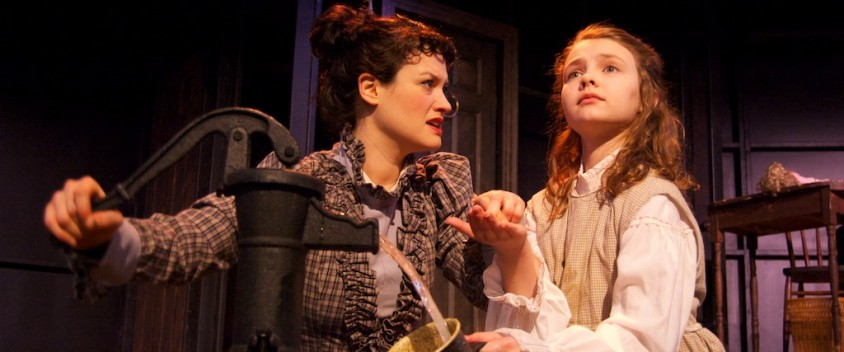 "Lara Knox as ""Anne Sullivan"" & Morgan Faith Williams as ""Helen Keller""; photo by Brian Bowers"